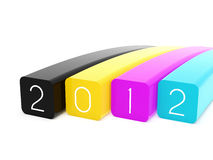 2012 CMYK. 2012 Happy new year in CMYK Royalty Free Stock Image