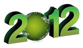 2012 com bauble do Natal Imagens de Stock Royalty Free