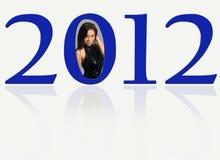2012 com uma beleza indonésia Glamourous Imagem de Stock Royalty Free
