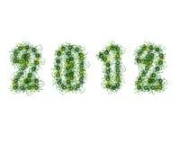 2012 con i caratteri fioriti Immagini Stock