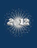 2012 con la priorità bassa di Starburst! Vettore/arte di clip Immagini Stock Libere da Diritti