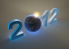 2012 con la terra Immagini Stock