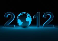 2012 con la terra Fotografie Stock Libere da Diritti