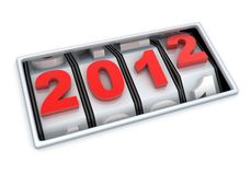 2012 countdown Stock Photography