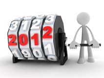 2012 countdown and man Stock Photography