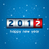 2012 Counter. New Year counter with snowflake background Stock Photos