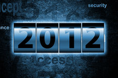 2012 Counter. In blue color vector illustration