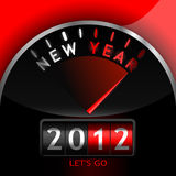 2012 counter on the dashboard. For new year Stock Image