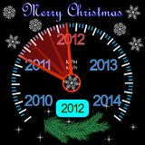 2012 counter on the dashboard for new year. The 012 counter on the dashboard for new year stock illustration