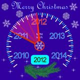 2012 counter on the dashboard for new year Stock Photo