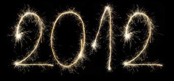 2012 criaram um sparkler Fotografia de Stock Royalty Free