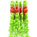 2012: Cronologia di anno come scala Fotografia Stock Libera da Diritti