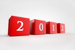 2012 cubes. 2012 as cubes on grey background Stock Illustration