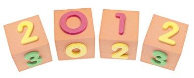 2012 in cubi Immagine Stock