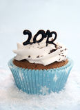 2012 cupcake. Cupcake to celebrate New Year 2012 Royalty Free Stock Photos