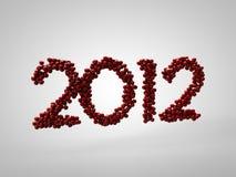 2012 czerwieni życzenia Obraz Royalty Free