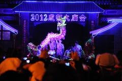 2012 danças chinesas do dragão do ano novo Fotografia de Stock