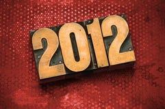2012 dans le type d'impression typographique Images stock
