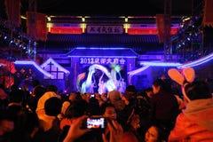 2012 danzas chinas del dragón del Año Nuevo Fotografía de archivo libre de regalías