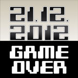 2012 date of apocalypse. Game Over - illustration vector illustration