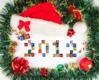 2012 de achtergrond van Kerstmis Royalty-vrije Stock Foto's