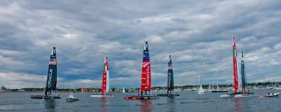 2012 de Catamarans van de Kop van Amerika Stock Fotografie