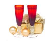 2012 de champagne van Kerstmis Stock Afbeeldingen