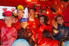 2012 de Chinese Parade van het Nieuwjaar in San Francisco Royalty-vrije Stock Afbeeldingen