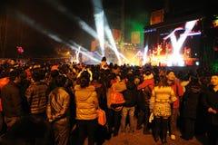 2012 de Chinese prestaties van het Nieuwjaar Stock Foto's
