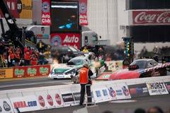 2012 de grappige auto van Winternationals John Force. Stock Afbeelding