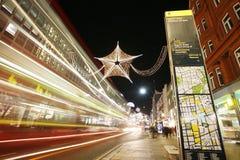 2012 de lichten van Kerstmis op de straat van Londen Royalty-vrije Stock Fotografie