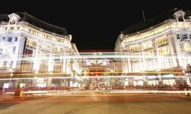 2012 de lichten van Kerstmis op de straat van Londen Royalty-vrije Stock Afbeeldingen
