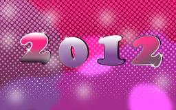2012 de nieuwe decoratie van de jarenvooravond Stock Afbeelding