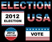 2012 de verkiezing van de V.S. Stock Afbeelding