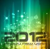 2012 de vieringsachtergrond van het Nieuwjaar Royalty-vrije Stock Foto