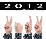2012 dedos Fotografía de archivo