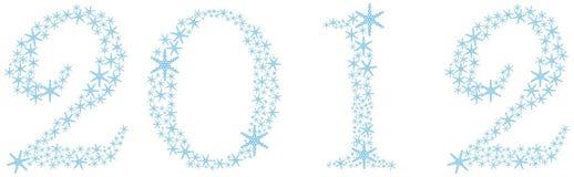 2012 dei fiocchi di neve Fotografia Stock