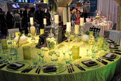 2012 dekoraci dich Frankfurt stołowy trau Obrazy Royalty Free