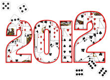 2012 design. With cards and dice Stock Image