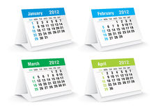 2012 desk calendar. Vector illustration Royalty Free Stock Photo