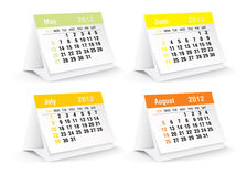 2012 desk calendar. Vector illustration Stock Photo