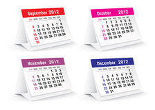 2012 desk calendar. Vector illustration Stock Photography