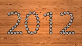 2012 deskowego nowego drewnianego rok Fotografia Stock