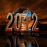 2012 Doom Predict. 3D graphic with abstract with 2012 with end of the world prediction ambiance and mood Vector Illustration