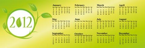 2012 eco calendar. 2012 calendar representing eco concept Stock Images