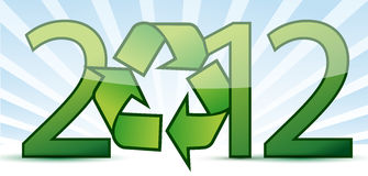2012 ecology recycle concept illustration. Design Royalty Free Stock Image