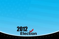 2012 Election. Concept illustration background Royalty Free Stock Photography