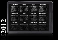 2012 electronic calendar. Illustration of 2012 electronic calendar Royalty Free Illustration