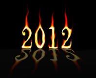 2012 en el fuego Imágenes de archivo libres de regalías