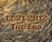 2012 The End Royalty Free Stock Photography